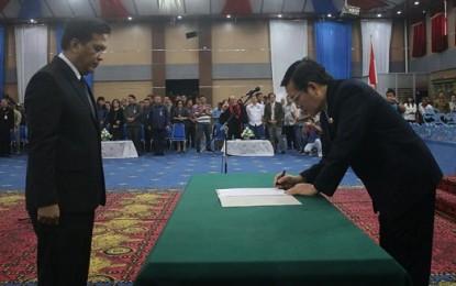 Peter KB Assa Resmi Jabat Sekretaris Kota Manado