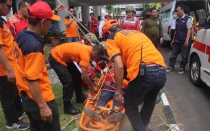 BPBD Sulut Gelar Simulasi Bencana Gempa dan Kebakaran