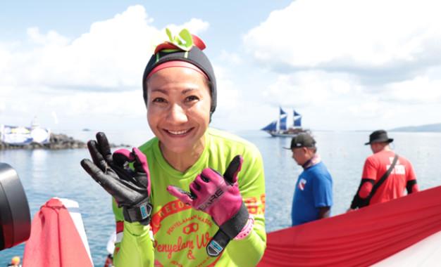 Ny Ruthy Bangga Penyelaman Massal Wanita Tembus Rekor Dunia