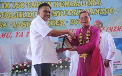 Hadiri Puncak Yubilium 150 Tahun Umat Katolik, Begini Kata Gubernur Sulut