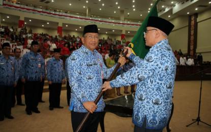 Sekjen DP KORPRI Nasional Lantik Ketua dan Personalia Dewan Pengurus KORPRI Sulut 2017-2022