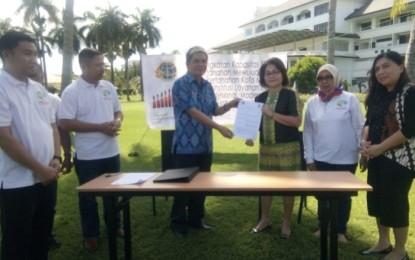 Gelar MoU, Kantor ATR/BPN Manado-Bapelitbangda-BP2RD Manado Menuju One Map Policy