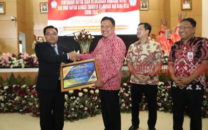 Gubernur Olly Serahkan DIPA dan Dana Transfer ke Daerah serta Dana Desa Tahun 2019
