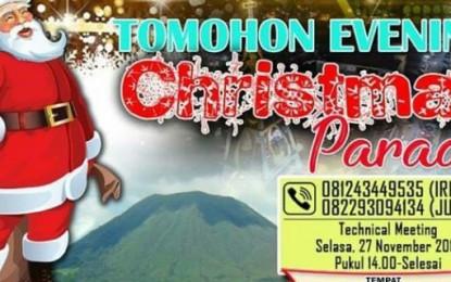 Christmas Parade Sukses,  Buktikan Tomohon Kota Religius