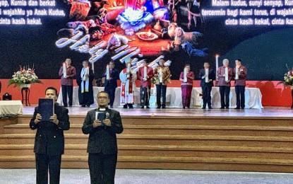 Olly Dondokambey Wakili Gubernur se-Indonesia Ikut Nyalakan Lilin Natal Nasional