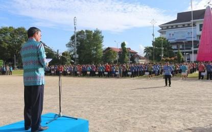 Walikota Pimpin Apel Perdana, Ini Pesan GSVL untuk ASN Pemkot Manado
