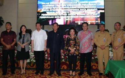 Begini Penyampaian Walikota GSVL di Rapat Paripurna DPRD Kota Manado