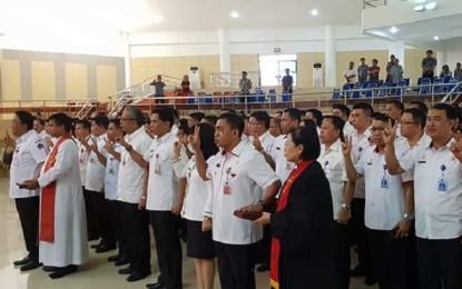 Gubernur Kukuhkan 213 Pejabat Struktural Pemprov Sulut