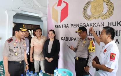 Kapolda Sulut Sidak Pengamanan Kantor KPU dan Bawaslu Minsel