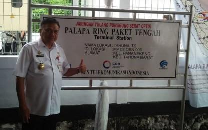 Ujicoba Jaringan Palapa Ring Paket Tengah, Gubernur : Terimakasih Pak Presiden Jokowi