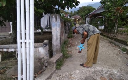 Kepala Desa Bongkudai Barat Lakukan Pengukuran Pembangunan Desa