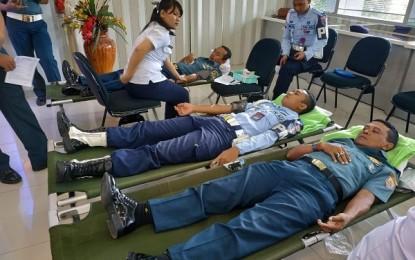 Pomal Lantamal VIII Gelar Donor Darah Jelang HUT ke 73