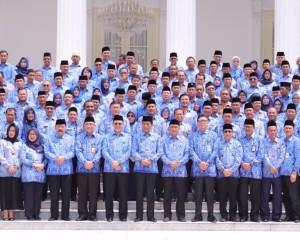 Sekprov Edwin Silangen Hadiri Pembukaan Rakernas KORPRI 2019 di Istana Negara