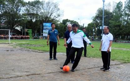 Buka Press Futsal Competition II, Wali Kota GSVL Apresiasi IWO Aktif Sukseskan Manado Fiesta 2019