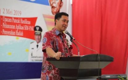 Buka Gebyar Hardiknas Tahun 2019, Wagub Ajak Seluruh Stakeholders Tetap Sinkron Majukan Pendidikan Sulut