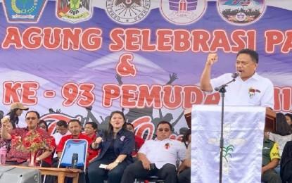 Tak Terbendung, Antusiasme Milenial GMIM Dengarkan Pesan Positif Gubernur Olly di Selebrasi Paskah