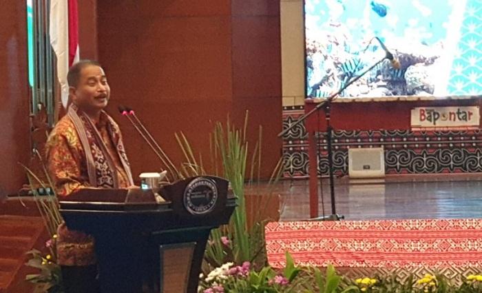 Menteri Pariwisata RI Arief Yahya saat membawakan sambutan pada acara Launching Calender Of Event 2019 North Sulawesi