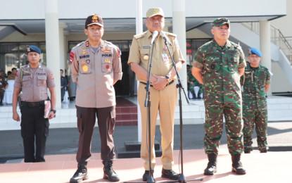 Gubernur Olly Ucapkan Terima Kasih Untuk TNI-Polri yang Bersinergi Amankan Pemilu