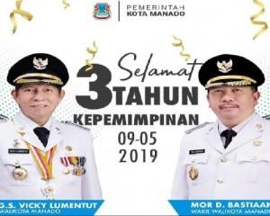 Pemkot Manado Gelar Ibadah Syukur 3 Tahun GSVL – MOR Pimpin Kota Manado