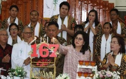 Gubernur Olly Hadiri Ibadah Syukur HUT ke-167 GMIM Moria Kolongan