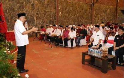 Keluarga Besar PDI Perjuangan Sulut Gelar Silaturahmi dan Buka Puasa Bersama Anak Yatim