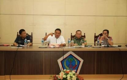 Rapat Bersama Forkopimda, Gubernur Olly Matangkan Kunjungan Presiden Jokowi di Sulut