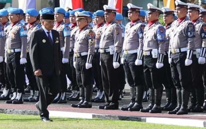 Gubernur Olly Bacakan 5 Amanat Presiden Jokowi untuk Polri di HUT Ke-73