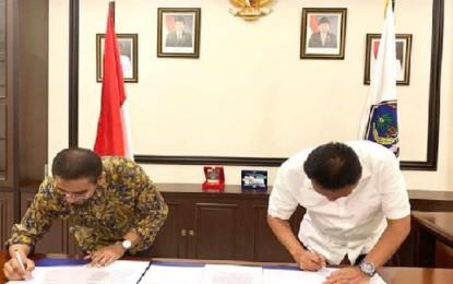 Pacu Ekspor Daerah dan Konektivitas Kawasan, Gubernur Sulut Teken MoU Bersama Pelindo IV