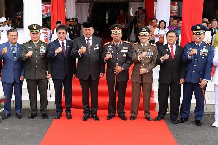 Gubernur Sulut Olly Dondokambey SE bersama Forkopinda Sulut