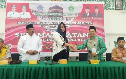 Karo Kesra Sambut Kedatangan Jamaah Haji Kloter 12 di Debarkasi Balikpapan