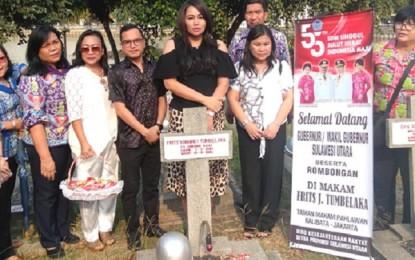 Sambut HUT ke 55 Provinsi Sulut, Pemprov Gelar Ziarah di TMP Kalibata