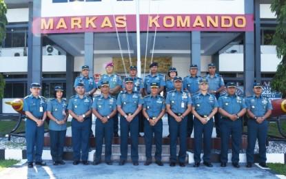 Lantamal VIII Terima Tim Safari Pers TNI AL