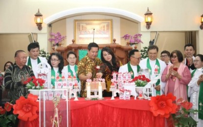 Hadiri Ibadah di GMIM Kalvari Pineleng, Ini Yang Disampaikan Wagub Kandouw