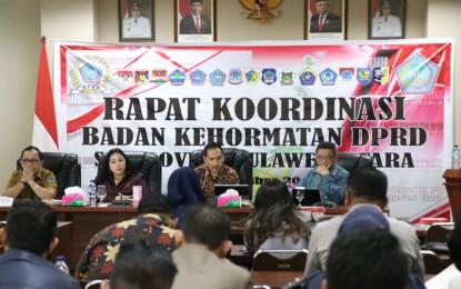 Kontrol Perilaku Anggota DPRD, BK Sulut Laksanakan Rakor