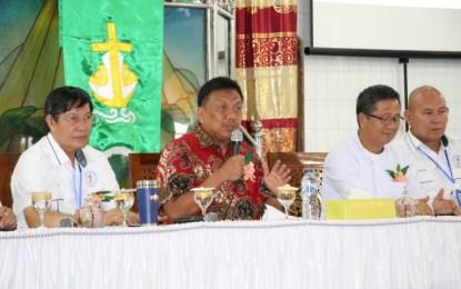 Gubernur OD Bekali Pelsus Laki-Laki Sinode GMIM Materi Wawasan Kebangsaan
