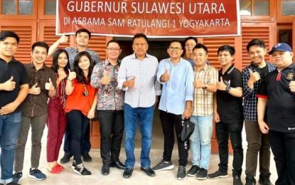 Ini Pesan Gubernur Olly Saat Temui Mahasiswa di Asrama Yogyakarta