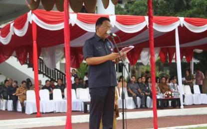 Jadi Irup Hari Bakti PU ke-74, Sekdaprov Silangen Bacakan Pidato Presiden Jokowi