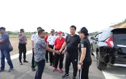 Wagub Kandouw Tinjau Pembangunan Bandara Siau