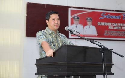 Tatapmuka Bersama ASN Pemkab SITARO, Wagub Kandouw : Jaga Integritas