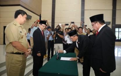 Sertijab Kakanwil Kemenkumham Sulut, Wagub Kandouw Ajak Bersinergi Untuk Sulut