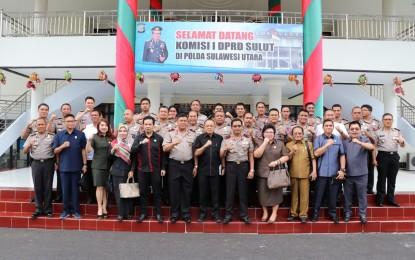 Kunjungan Komisi I DPRD Sulut ke Polda, Dipimpin Andrei Angouw