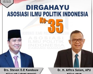 Peringati HUT ke-35, AIPI Manado Tak Henti Edukasi Masyarakat Agar Melek Politik