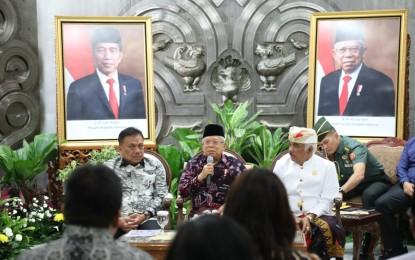 Gubernur Olly dan Panitia Konas FKUB VI Temui Wapres Ma'ruf Amin