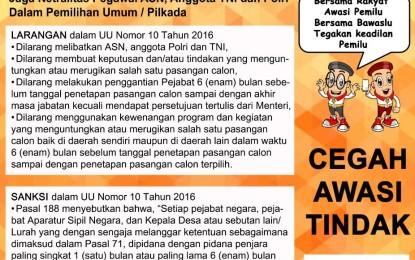 Pengumuman Tentang Netralitas Pegawai ASN, Anggota TNI dan Polri Dalam Pemilihan Umum dan Pilkada