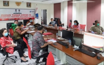 Sekdaprov Silangen Vidcon dengan KPK Bahas Pencegahan Tipidkor Anggaran Penanganan Covid-19