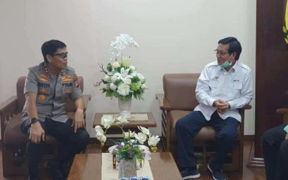 Walikota GSV Lumentut Beraudensi dengan Kapolda Sulut Terkait Pencegahan Covid-19