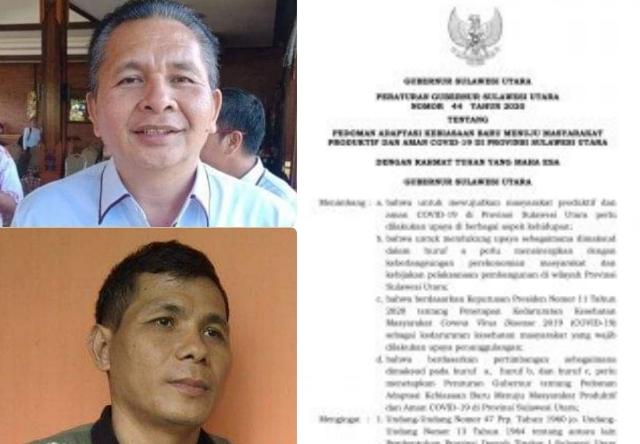 Korwil KSBSI Sulut Lucky Sanger dan Ketua KSPI Sulut Hardy Semboeng