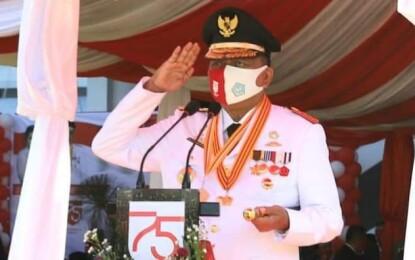 Gubernur Olly Irup di HUT ke-75 RI Pada Kondisi Tidak Biasa