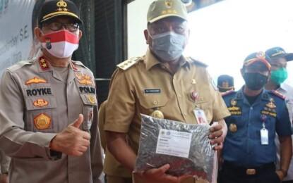Di Tengah Pandemi, Gubernur Olly Lepas Ekspor Komoditas Pertanian Sulut Senilai Rp 47,8 M ke 15 Negara