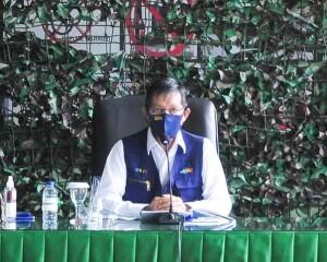 Walikota GSV Lumentut Berikan Materi Penanganan Covid-19 di Kodim 1309 Manado